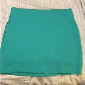 Bcbg Teal mini skirt